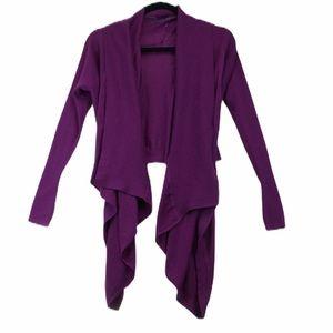 Lululemon size 8 purple drape front cardigan
